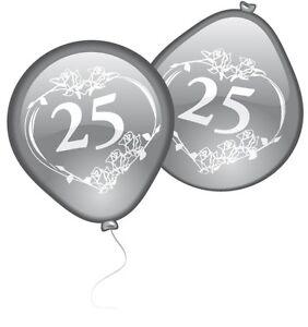 ballon 25 10er pack deko zur silberhochzeit hochzeitsdeko ebay. Black Bedroom Furniture Sets. Home Design Ideas