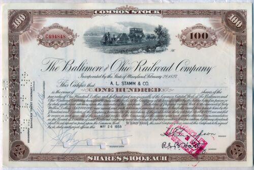 Baltimore & Ohio Railroad Company Stock Certificate B&O CSX in Coins & Paper Money, Stocks & Bonds, Scripophily, Transportation   eBay