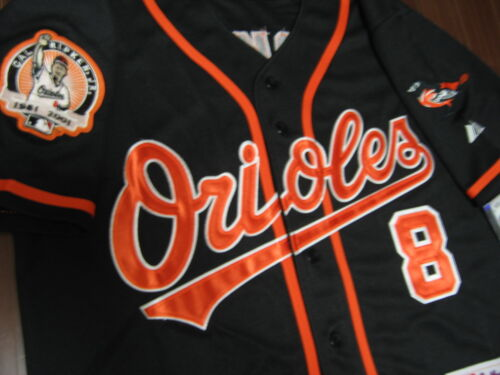 Baltimore Orioles #8 Cal Ripken Jr.w/Dual Patch sewn Jersey XL black New w/Tags in Sporting Goods, Wholesale Lots, Other Wholesale Lots | eBay