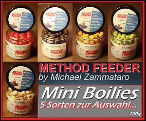 Balzer-Method-Feeder-Mini-Boilies-10mm-5-Sorten-Boilie-Feedermaster-by-Zammataro