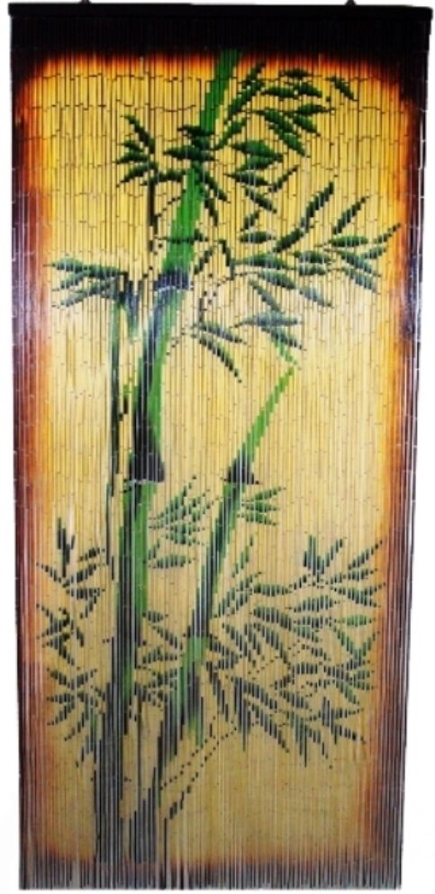 Beaded curtains painted bamboo painted scenes bamboo beaded rachael