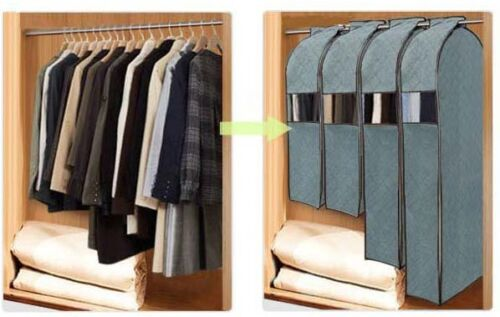 Bamboo Charcoal Garment Suit Gown Clothing Dress Bag Dustproof Protector Cover in Home & Garden, Housekeeping & Organization, Home Organization | eBay