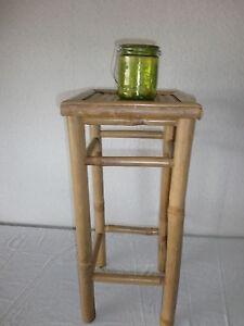 Bambushocker klein barhocker thekenhocker hocker stuhl for Kleine barhocker