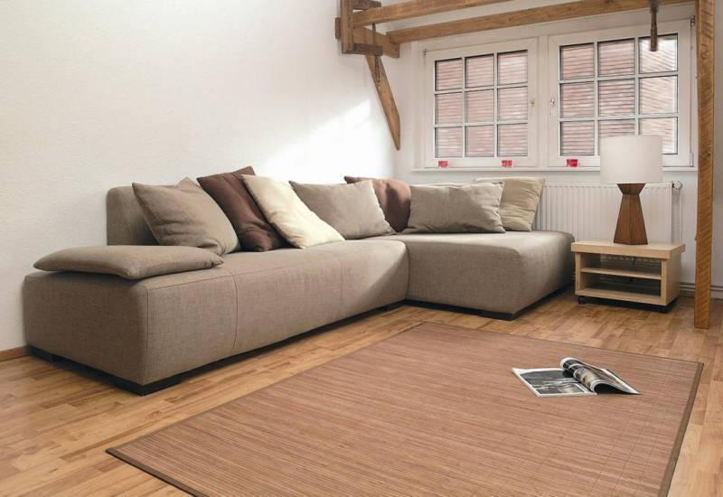 bambusteppich honey teppich aus bambus geh rtet eckig ca 160x200 cm ebay. Black Bedroom Furniture Sets. Home Design Ideas