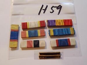 Bandspange-USA-alte-Form-zum-Aufschieben-7-Stueck-H59