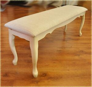 bank 120cm stuhl k chen sitzbank tisch hevea holz creme antik beige queen h47cm ebay. Black Bedroom Furniture Sets. Home Design Ideas