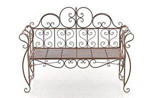 bank gartenbank gartenm bel metall nostalgie wei gr n braun bronze cl mira ebay. Black Bedroom Furniture Sets. Home Design Ideas
