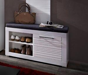 bank life wei sitzbank breite 92 cm mit sitzkissen flur schuhbank ebay. Black Bedroom Furniture Sets. Home Design Ideas