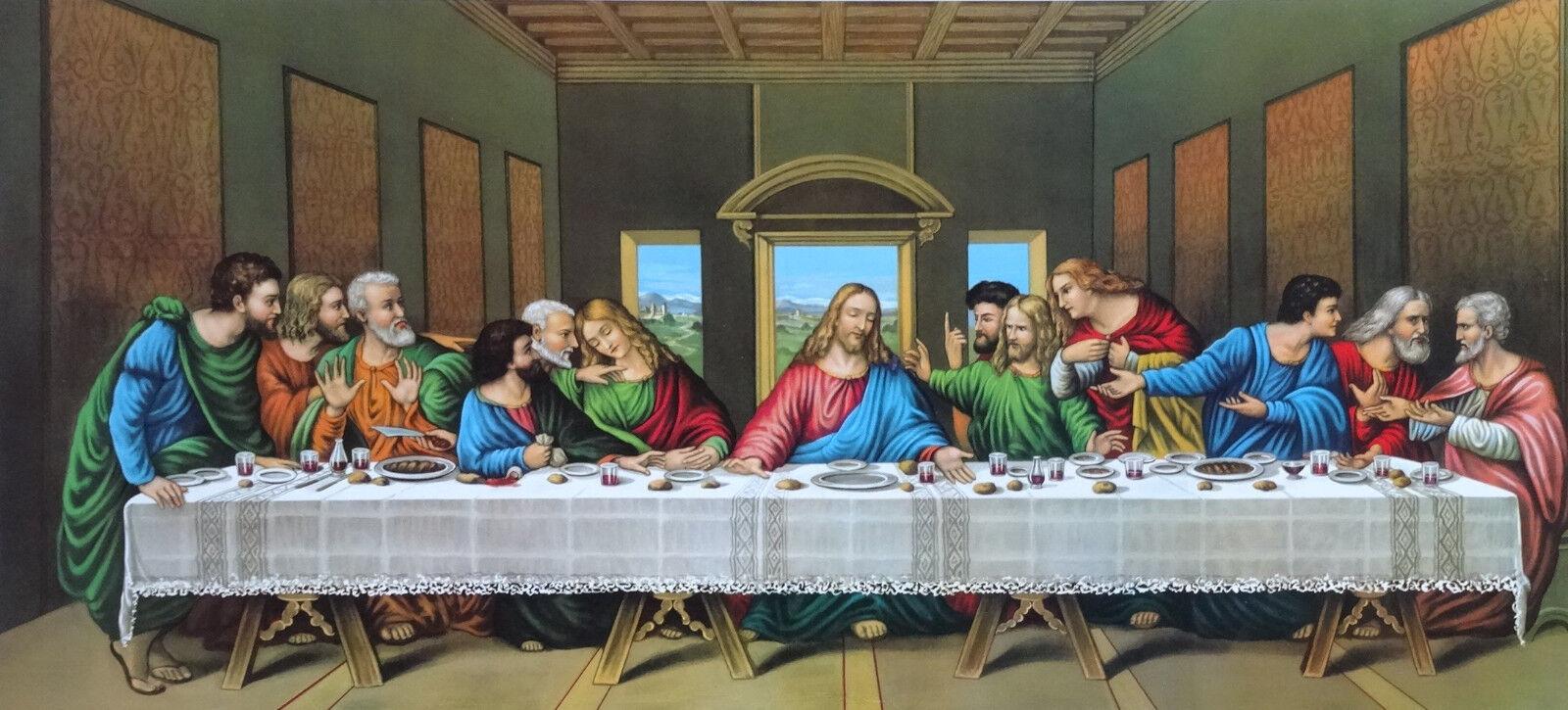 Barock Gemälde letztes Abendmahl 12 APOSTEL ULTIMA CENA Bild Repro ...