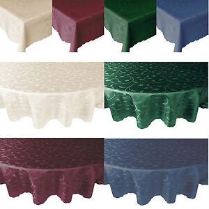 Barock-Tulpen-Damast-Tischdecke-Tafeldecke-Eckig-Rund-Groesse-Farbe-waehlbar