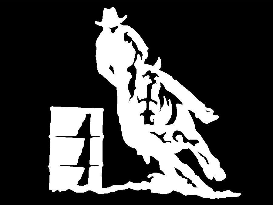 Barrel Racing Rodeo Horse Trailer Car Truck Window Vinyl Decal Sticker Graphic