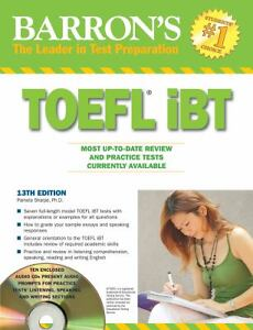 Barron's TOEFL IBT with Audio Compact Di...