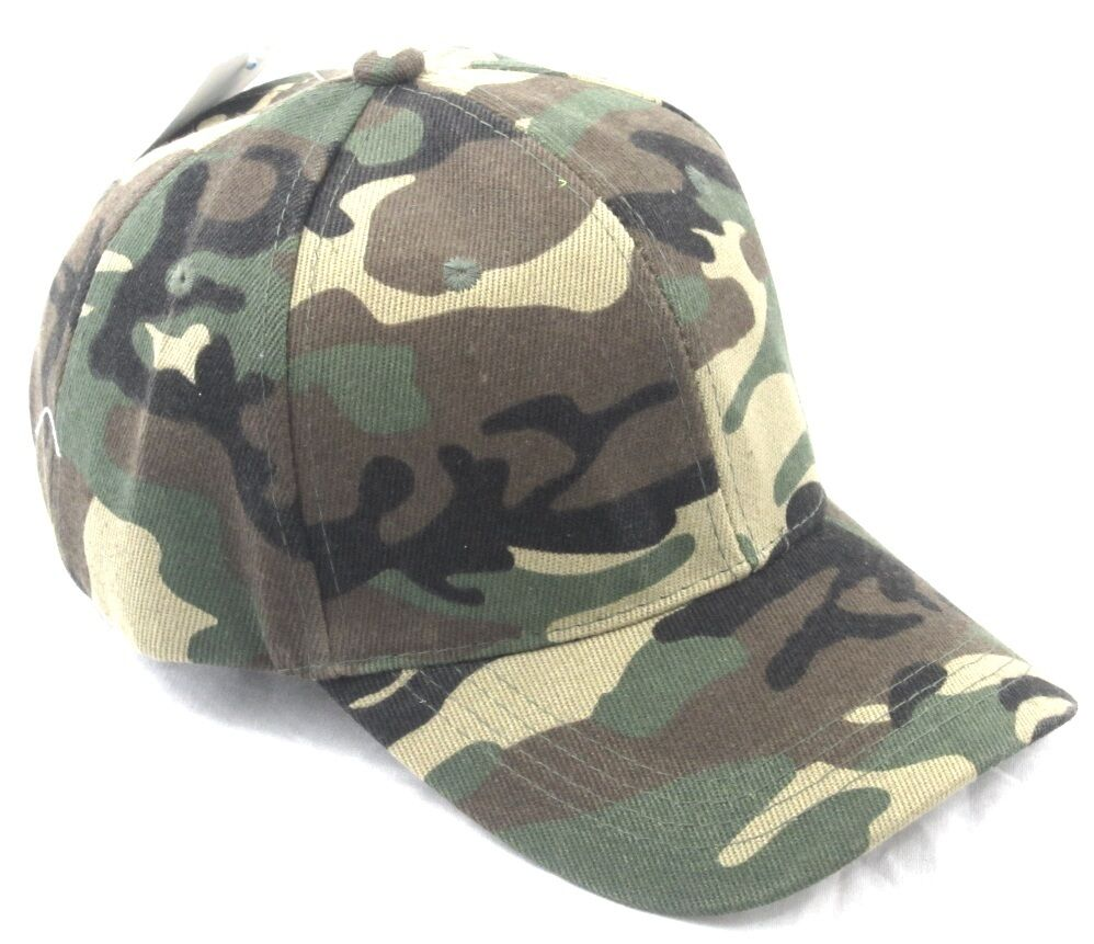 10 pack woodland camo baseball cap hat camouflage army w