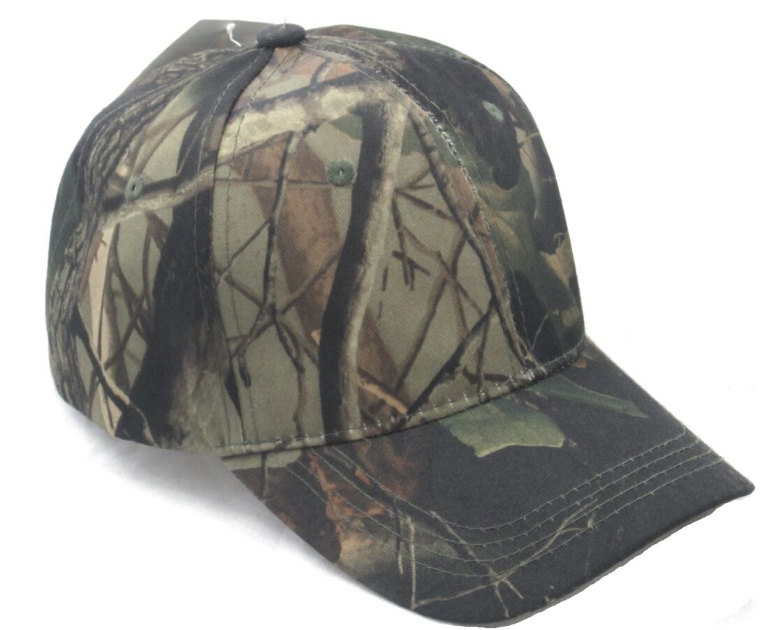 baseball cap hat real tree camo camouflage color