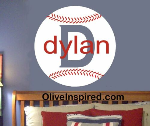 Baseball Sports Theme PERSONALIZED Vinyl Wall Decal Art Nursery Decor Boys Room in Baby, Nursery Decor, Wall Decor | eBay