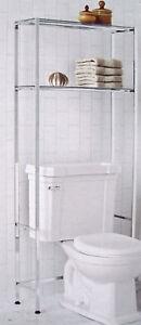 Glass Shelves  Bathroom on Glass Bathroom Shelf On Bath Towel Tower Etagere W Glass Shelf