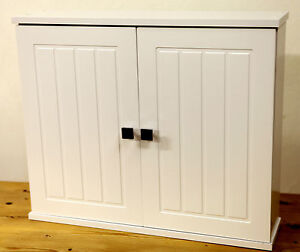 bathroom cabinet white with chrome handles brand new free