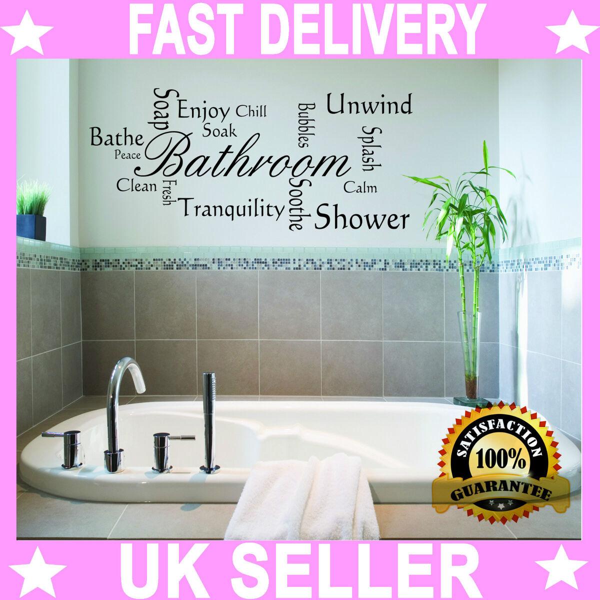 Bathroom quote modern wall art sticker decal vinyl montage Modern bathroom wall art