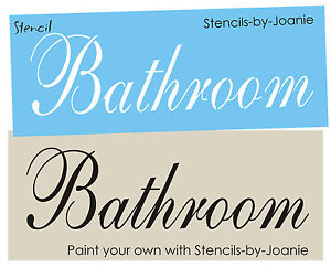 Bathroom stencil french chic shabby cottage family home decor u paint