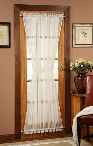 Batiste Sheer French Door Curtain Panel with Tieback by Stylemaster® in Home & Garden, Window Treatments & Hardware, Curtains, Drapes & Valances | eBay