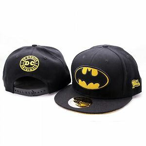 Batman-Classic-Logo-Superhelden-Baseball-Hip-Hop-Cap-Kappe-Muetze-Sommer-Snapback