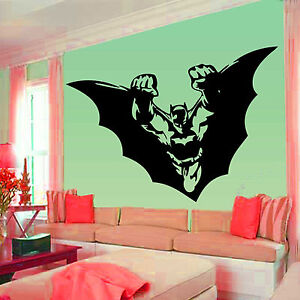 Batman wall stickers wall decal mural vinyl wallart for Batman mural wallpaper uk