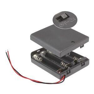 Batteriehalter-4x-AA-mit-EIN-AUS-Schalter-4-x-Mignon-Batteriefach-4xAA