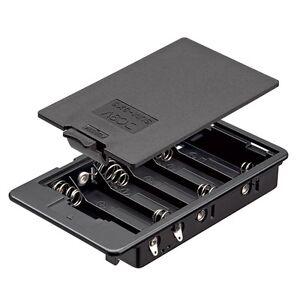 Batteriehalter-6-x-AA-geschlossen-Batteriefach-schwarz