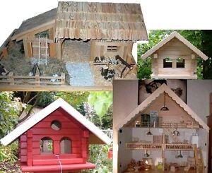 bauanleitung f r ein vogelhaus weihnachtskrippe und puppenhaus ebay. Black Bedroom Furniture Sets. Home Design Ideas