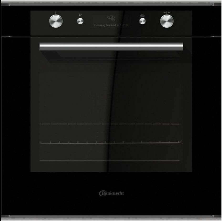 bauknecht blvms 8100 sw einbau backofen mit display glas schwarz eek a ebay. Black Bedroom Furniture Sets. Home Design Ideas