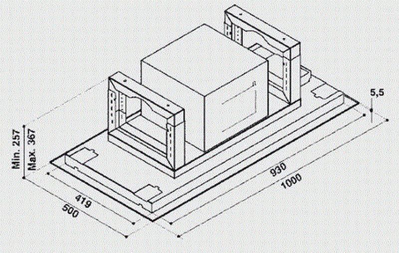 bauknecht deckenl fter dunsthaube dunstabzug deckenabzug einbauhaube eek d ebay. Black Bedroom Furniture Sets. Home Design Ideas