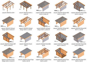 bauplan carport mit abstellraum doppelcarport ebay. Black Bedroom Furniture Sets. Home Design Ideas