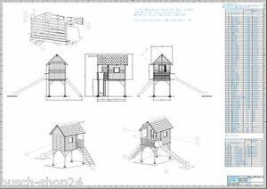 bauplan kinder spielhaus 1 5 hoch holz gartenhaus holzhaus. Black Bedroom Furniture Sets. Home Design Ideas