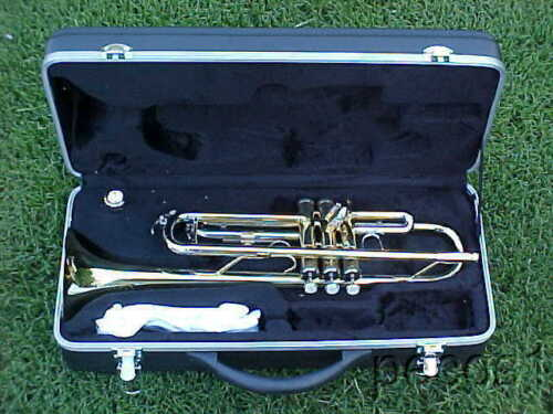Bb MARCHING OR CONCERT TRUMPET-NEW GOLDEN PRO BRASS BAND TRUMPETS in Musical Instruments & Gear, Brass, Trumpet & Cornet | eBay