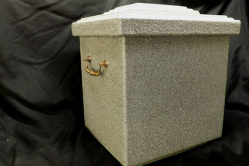 Beautiful Cremation Burial Funeral Urn Vault Waterproof Textured Light Gray in Everything Else, Funeral & Cemetery, Cremation Urns | eBay