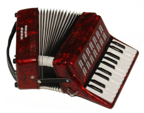 Beautiful Red Beginners Piano Accordion Outfit W/Bag 22 Piano Keys GrtForKids in Musical Instruments & Gear, Accordion & Concertina | eBay
