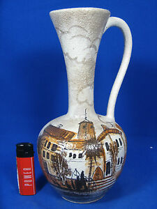 Beautiful-handpainted-50-s-west-german-design-JAWE-jug-Krug-Vase-Umbra-9