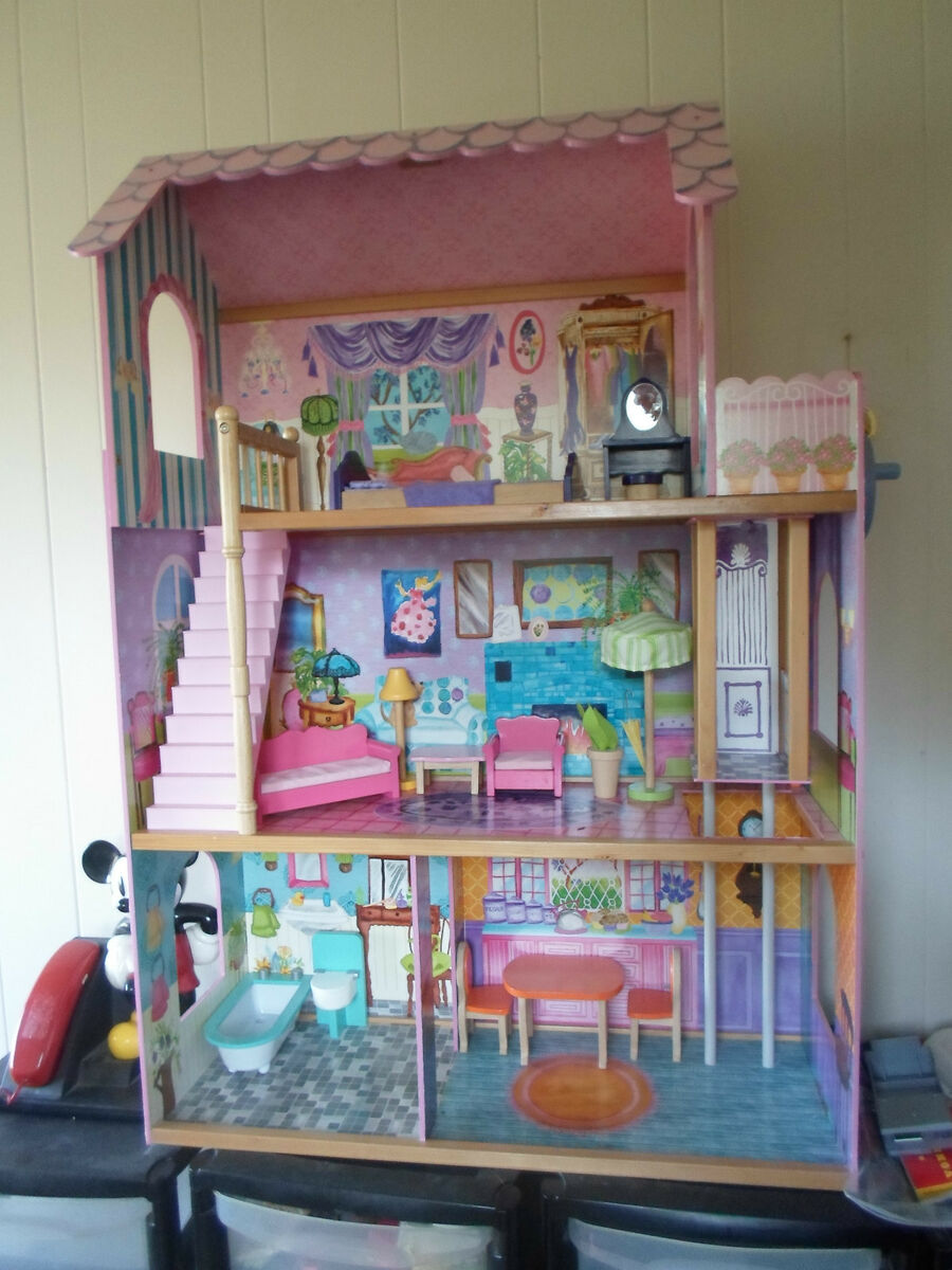Three 3 story barbie dream house elevator accessories pink for Dream house days furniture