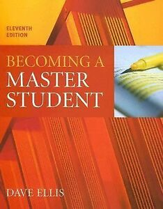 Becoming a Master Student by Dave Ellis ...