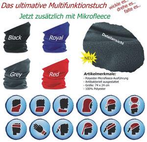 Beechfield-Micro-Fleece-Schlauchschal-Morf-Schal-Muetze-Multifunktionstuch