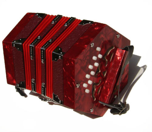 Beginner Student Concertina Anglo Red W/Carrying Bag/Hardcase 20 Button SPECIAL! in Musical Instruments & Gear, Accordion & Concertina | eBay