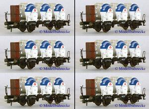 Behälterwagenzug 6-teilig Roco 46528 DB Tragwagen m Bh - <span itemprop=availableAtOrFrom>Deggendorf, Deutschland</span> - Behälterwagenzug 6-teilig Roco 46528 DB Tragwagen m Bh - Deggendorf, Deutschland