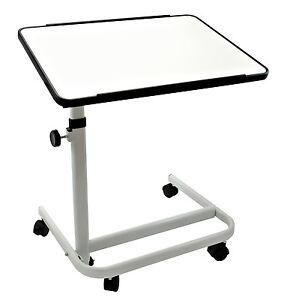 beistelltisch beistellwagen krankentisch bett tisch wei fahrbar neu ovp ebay. Black Bedroom Furniture Sets. Home Design Ideas