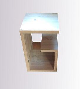 ... Tisch Couchtisch Wohnzimmertisch Nachttisch Sonoma Eiche Glas eBay