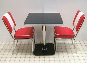 retro furniture 50s style diner mini kitchen table chair seating set