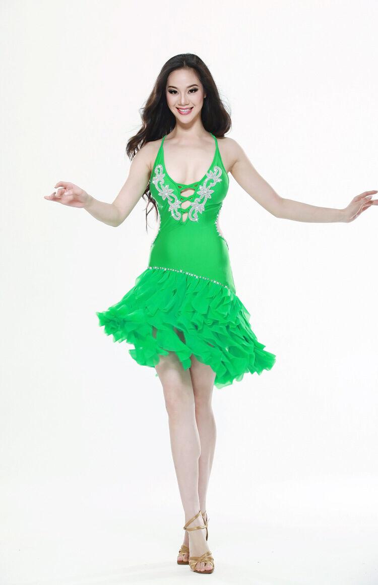 Belly Dance Costume Latin salsa tango Cha Cha Ballroom ...