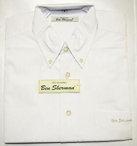 Ben-Sherman-langarm-Button-Down-Hemd-regular-fit-sehr-weit-geschnitten-weiss