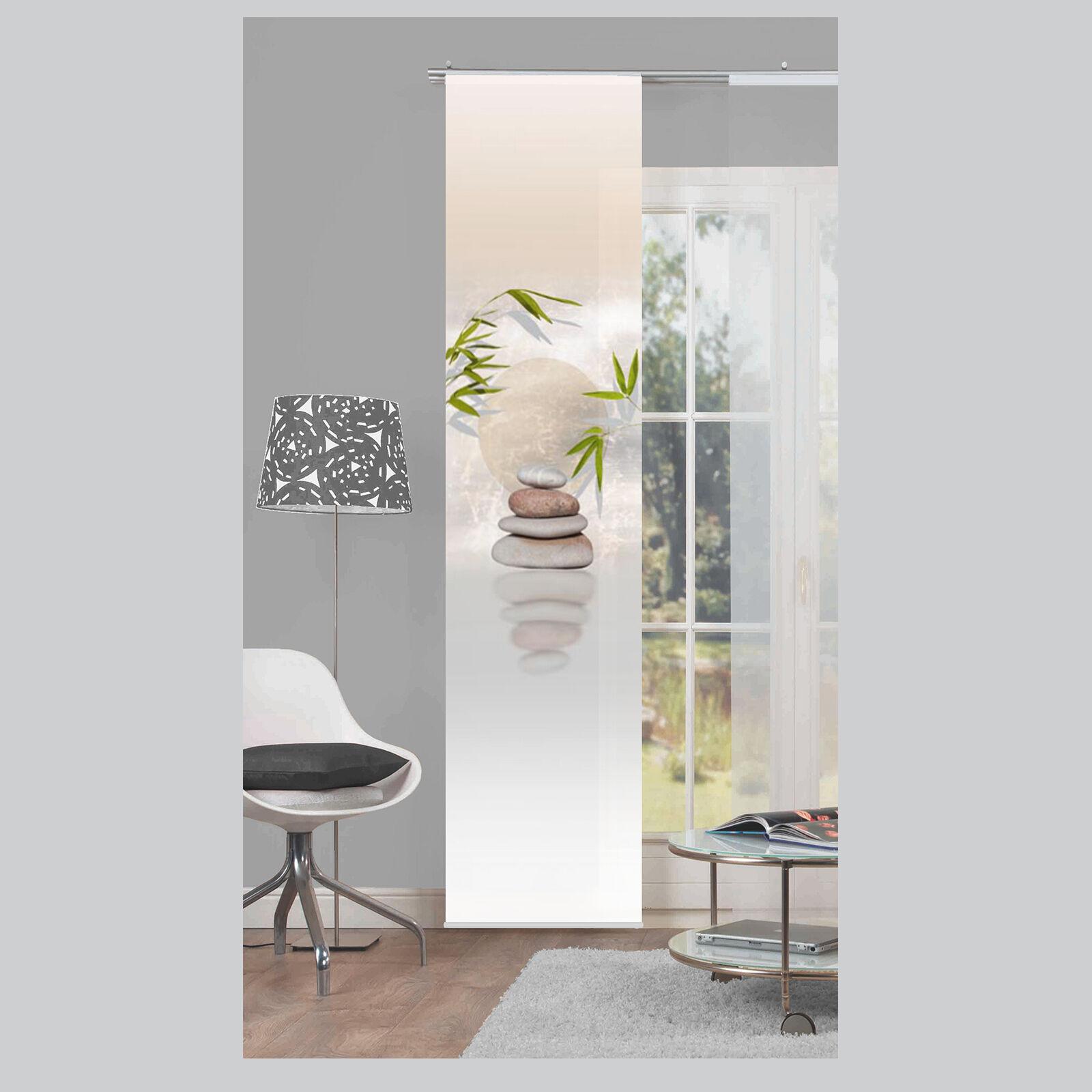 Benessa steine gr ser schiebevorhang raumteiler home for Raumteiler schiebevorhang