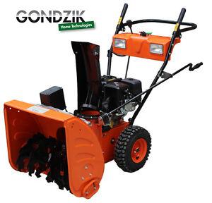Benzin-Schneefraese-GONDZIK-TST610EB-Motor-7-PS-4-Takt-E-Start-2x-Licht-Mod-2012
