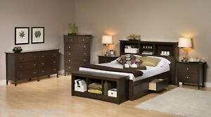 Berkshire Espresso 5PC Queen Platform Bedroom Set